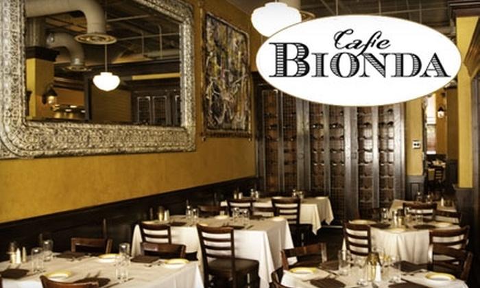 Café Bionda - Near South Side: $25 for $50 Worth of Authentic Italian Cuisine at Café Bionda