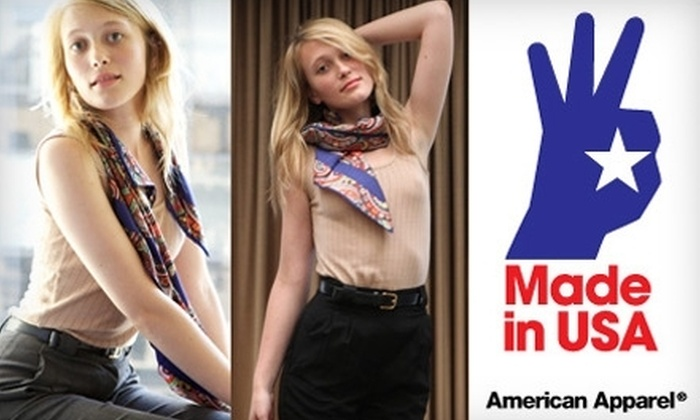 American Apparel - Columbia: $25 for $50 Worth of In-Store Clothing and Accessories at American Apparel