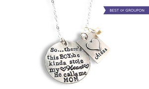 Hannah Design: Personalized Pendant in Sterling Silver by Hannah Design