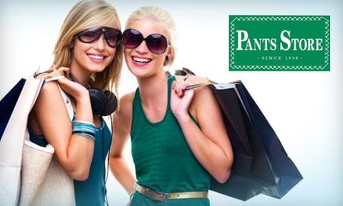 The Pants Store  - Multiple Locations: $25 for $50 Worth of Clothing, Shoes, Accessories, and More at The Pants Store