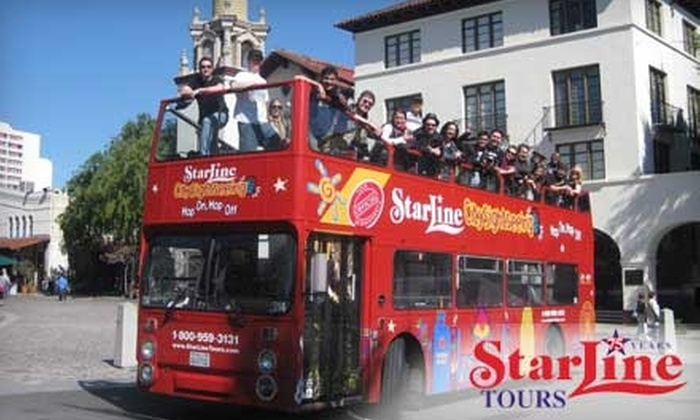 Starline Tours - Hollywood: $17 for an All-Day Hop-On, Hop-Off Double-Decker City Tour from Starline Tours ($35 Value)