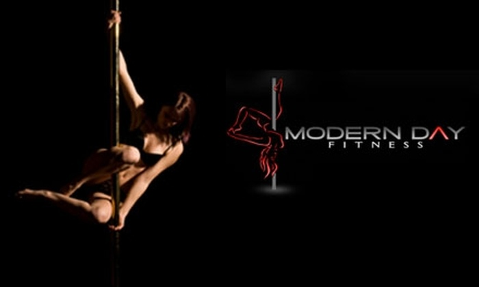 Modern Day Fitness - Central Business District: $10 for an Intro to Pole Dance Fitness Class from Modern Day Fitness ($20 Value)