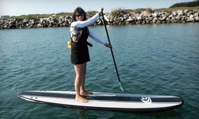 SUP Shack - Santa Cruz Harbor: 90-Minute Standup-Paddleboard Rental or Beginner Lesson at SUP Shack (Up to 52% Off)