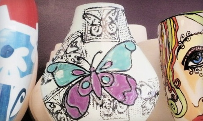 South Shore Pottery Shop - Abington: Paint-Your-Own-Pottery Experience for Two, Four, or Eight with Optional BYOB at South Shore Pottery Shop in Abington (Up to 64% Off)