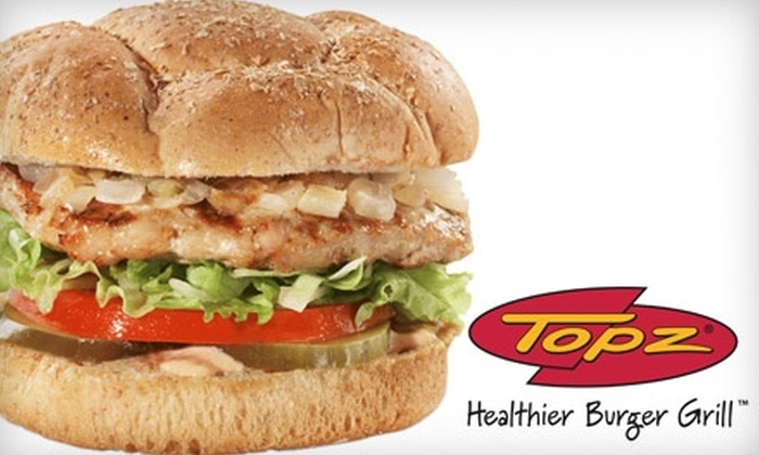 Topz - Downtown Birmingham: $7 for $15 Worth of Inventive Burgers and More at Topz Healthier Burger Grill