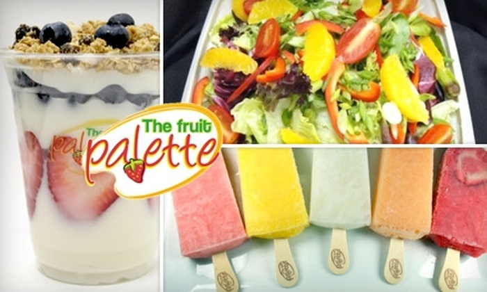 The Fruit Palette - University Place: $3 for $6 Worth of Fresh Salads, Frozen Bars, and Fruit-Based Treats at The Fruit Palette