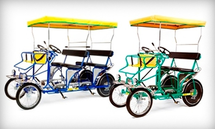 Wheel Fun Rentals - Multiple Locations: $15 for $30 Worth of Pedal Boat, Bike, or Surrey Rentals at Wheel Fun Rentals