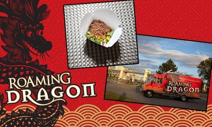 Roaming Dragon - Multiple Locations: $5 for $10 Worth of Pan-Asian Street Eats Plus a Basil-Lychee Lemonade from Roaming Dragon ($14 Total Value)