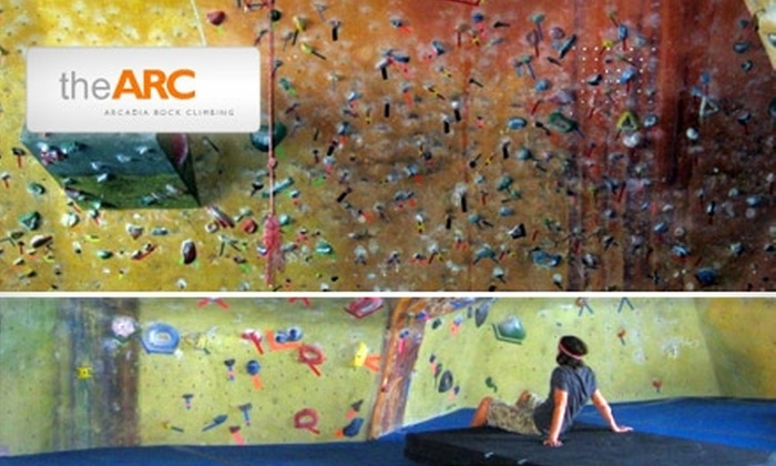 Arcardia Rock Climbing - Arcadia: $30 for Two Intro-to-Bouldering Lessons from the Arcadia Rock Climbing Gym ($60 Value)