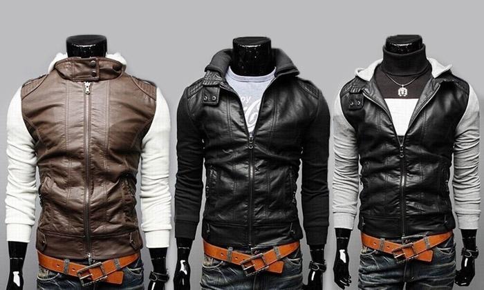 43f17e90dbe6 Veste en simili cuir   Groupon Shopping