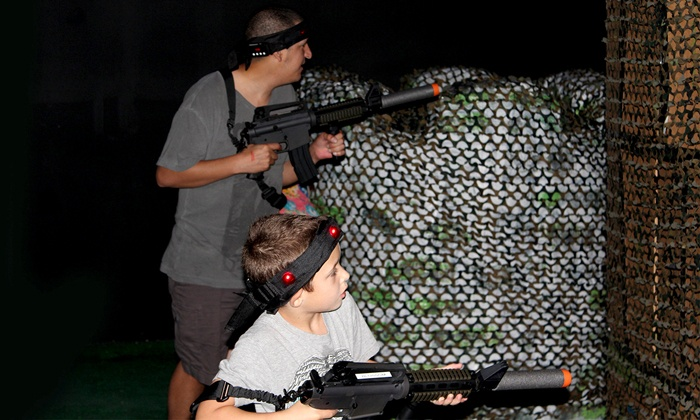 Sudden Combat - Sterling Park: Two or Four Rounds of Extreme Laser Tag or Reball Indoor Paintball at Sudden Combat (Up to 48% Off)