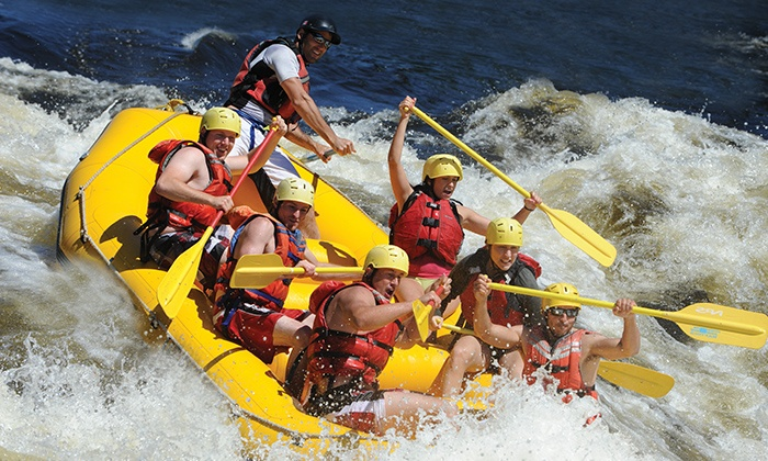 Rafting Nouveau Monde - Grenville-sur-la-Rouge: Whitewater Rafting and Camping on the Rivière Rouge for One or Two with New World Rafting (Up to 44% Off)
