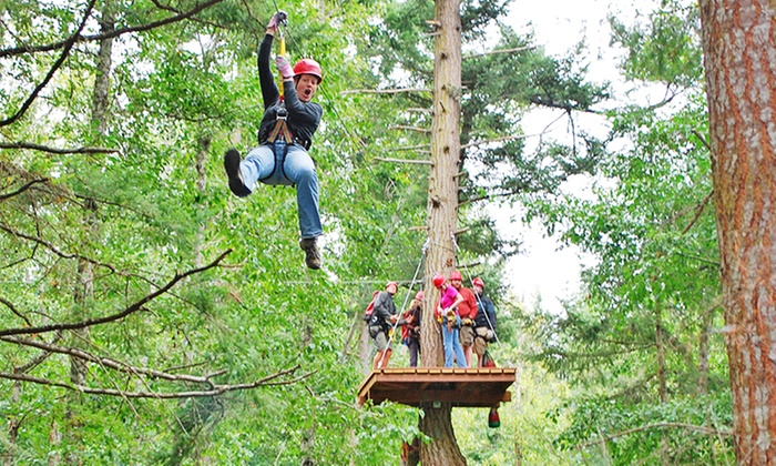 Zip San Juan - Friday Harbor - - Pick up Location (Past the Whale Museum): Zipline Tour for Two at San Juan Island Zip Tour (Up to 29% Off). Seven Options Available.