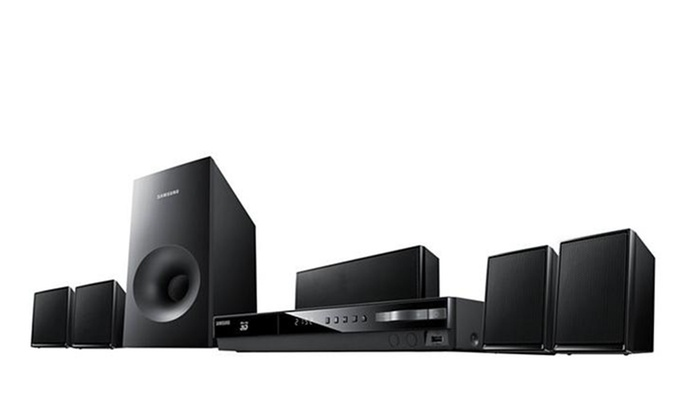 Samsung 5.1 CH 500W Smart Blu-ray Home Theater System: Samsung 5.1-Channel 500W Smart Blu-ray Home Theater System (HT-E3500) (Refurbished). Free Shipping and Returns.