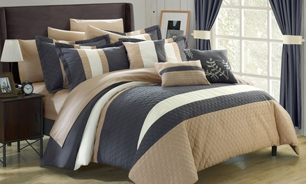 Chic home vicenza complete bedroom set 24 piece groupon for City chic bedding home goods