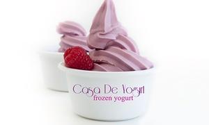Casa De Yogurt: $12 for Four Groupons, Each Good for $5 Worth of Frozen Yogurt at Casa De Yogurt ($20 Total Value)