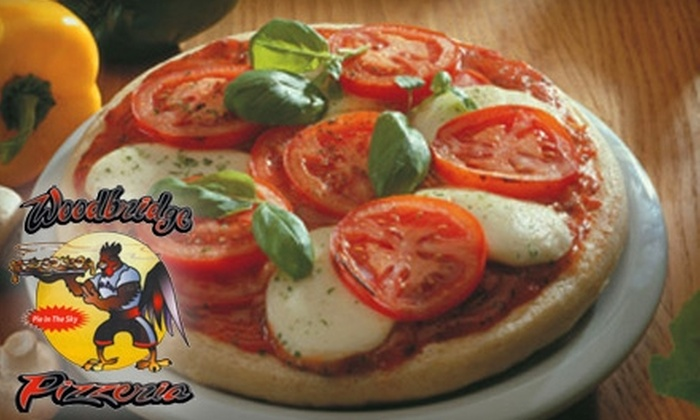 Woodbridge Pizzeria - Multiple Locations: $10 for $20 Worth of Pizza, Chicken, and Beer at Woodbridge Pizzeria