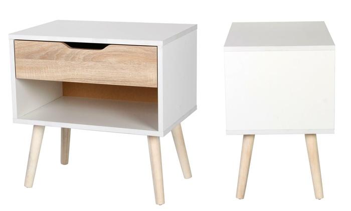 Gr8 Home Scandinavian-Style Bedside Table