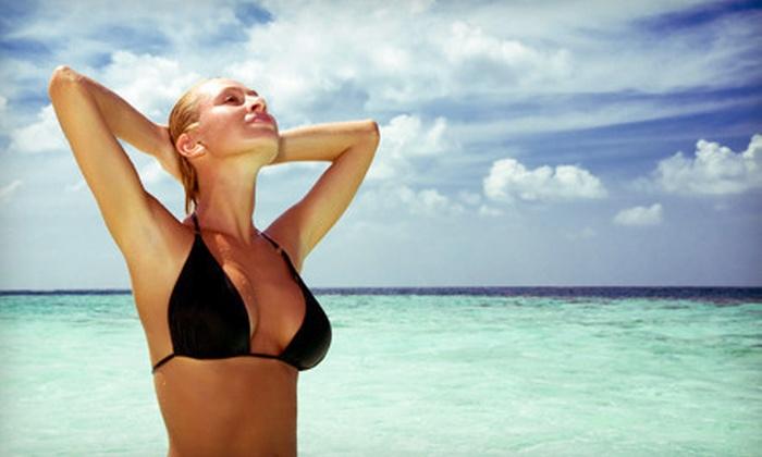 My Resort Tanning & Spa - Multiple Locations: Three or Five Spray Tans at My Resort Tanning & Spa (Up to 74% Off)