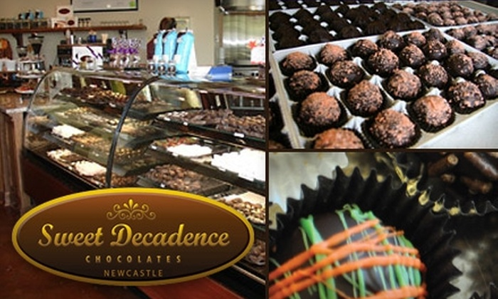 Sweet Decadence Chocolates - Newcastle: $10 for a Wine & Chocolate Pairing ($20 Value) or $18 for One Pound of Chocolates ($36 Value) at Sweet Decadence Chocolates in Newcastle