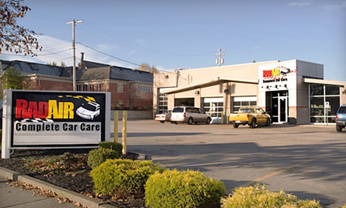 Rad Air Complete Car Care - Multiple Locations: Oil-Change Package at Rad Air Complete Car Care. Four Options Available.