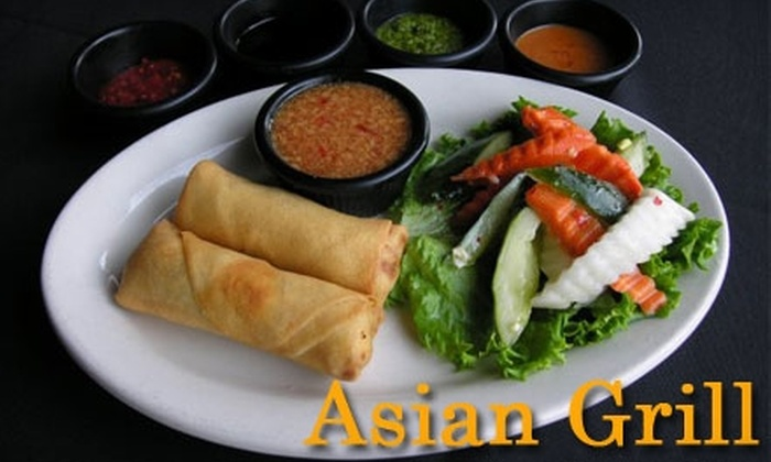 Asian Grill - Indianapolis: $12 for $30 Worth of Pan-Asian Cuisine and Drinks at Asian Grill in Noblesville