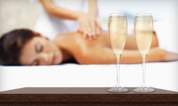 Bliss & Care - Rego Park: Valentine's Day Spa Package for One or Two with Massage, Facial, Champagne, and Chocolate at Bliss & Care (63% Off)