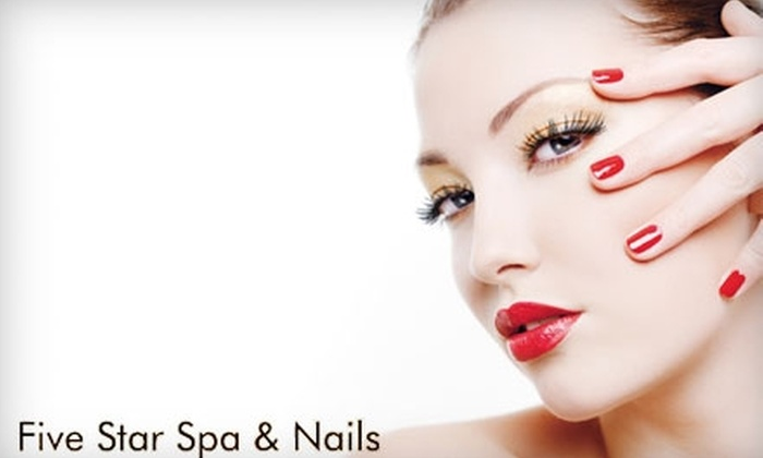 Five Star Spa & Nails - Meridian: $16 for Deluxe Manicure and Eyebrow Wax at Five Star Spa & Nails ($32 Value)