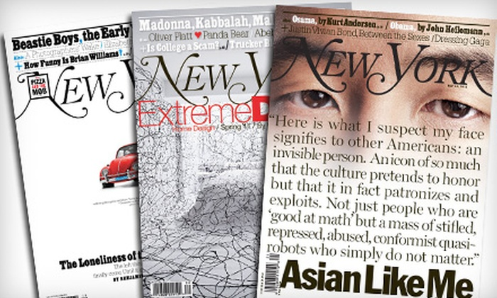 """New York"" - Multiple Locations: One- or Two-Year Subscription to New York Magazine (Up to Half Off)"
