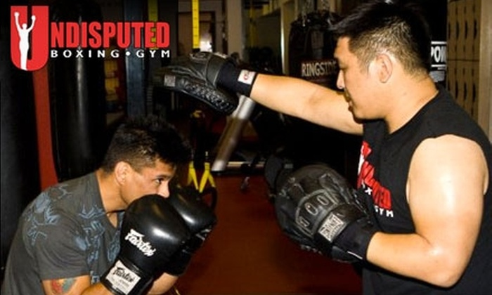 Undisputed Boxing Gym - San Carlos: $39 for a One-Month Unlimited Membership (Plus One Free Week) at Undisputed Boxing Gym in San Carlos