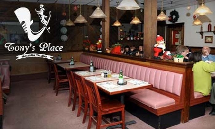 Tony's Place - West Roxbury: $20 for $40 Worth of Italian Cuisine at Tony's Place in West Roxbury