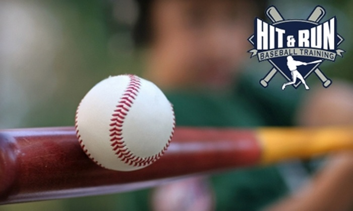Hit & Run Baseball - Sanford: $12 for 30 Minutes of Unlimited Indoor Batting-Cage Use at Hit & Run Baseball in Sanford ($25 Value)