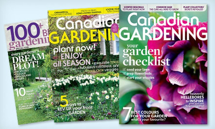 """Transcontinental Media: $10 for a One-Year Subscription to """"Canadian Gardening"""" Magazine ($19 Value)"""