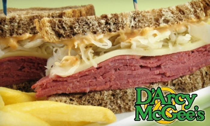 D'Arcy McGee's Irish Pub - Central Business District: $10 for $25 Worth of Pub Fare at D'Arcy McGee's Irish Pub