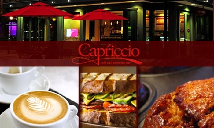 Capriccio Café - Logan Square: $10 for $20 Worth of Coffee, Sandwiches, Pastries, and More at Capriccio Café and Espresso Bar