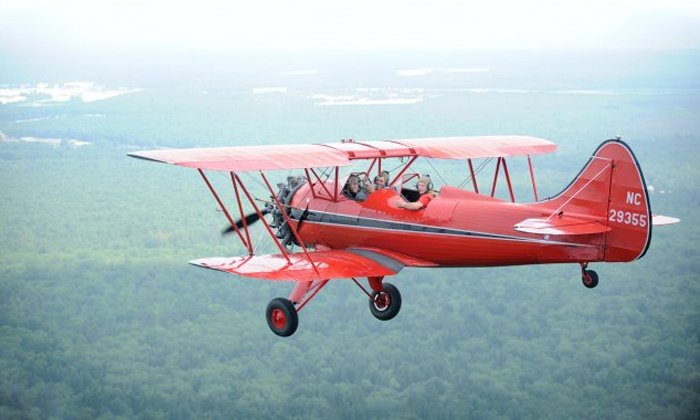 Red Baron Air Tours - Woodbine: 20- or 30-Minute Waco Flight for One, or 15-Minute Cessna Flight for Two from Red Baron Air Tours (Up to 52% Off)