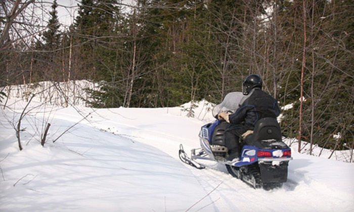 Boats and Beyond Rentals - Lincoln School: $79 for a Four-Hour North-Woods Snowmobile Outing from Boats and Beyond Rentals in the Brainerd Lakes Area ($159 Value)