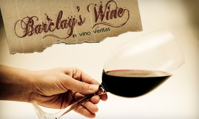 Barclay's Wine: $25 for $75 Worth of Wine from Barclay's Wine