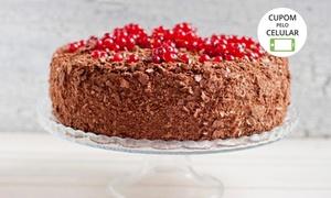 Só Torta: Só Torta - São João: kit festa com torta morena (3,5 kg) + cento de salgados assados sortidos