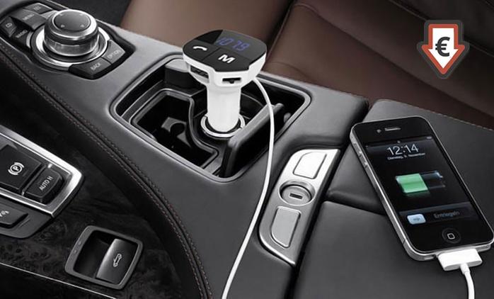 Kit mains-libres Bluetooth/transmetteur de musique pour voiture dès 15,95 € (jusqu'à 81% de réduction)