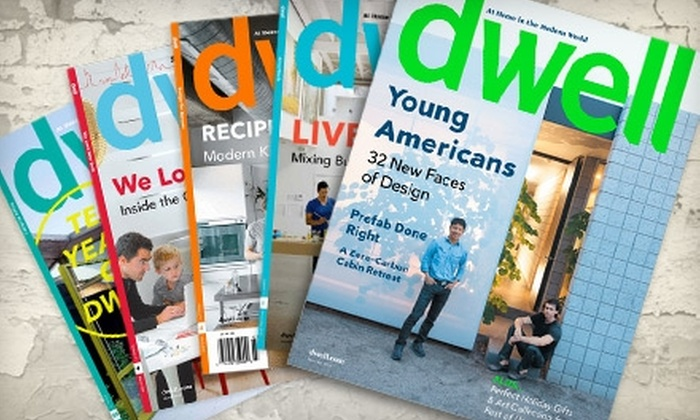 """Dwell Magazine: $10 for a One-Year Subscription to """"Dwell"""" magazine ($19.95 Value)"""