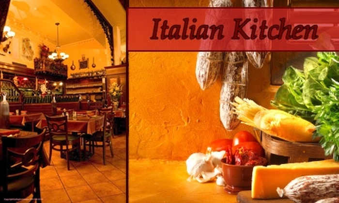 Italian Kitchen - Riverside: $20 for $50 of Hearty Italian Fare and Drinks at Italian Kitchen