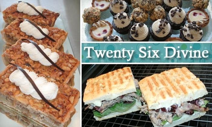 Twenty Six Divine - Westside: $5 for $10 Worth of Sweets and Eats at Twenty Six Divine