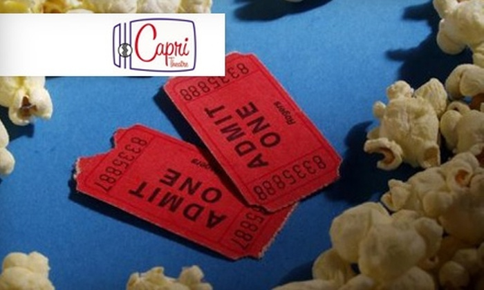The Capri Theatre - Old Cloverdale: $8 for Two Non-Member Movie Tickets at The Capri Theatre ($16 Value). Choose Between Two Shows.