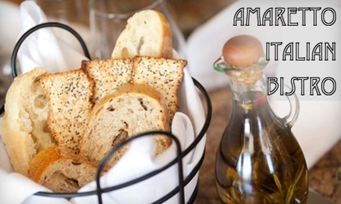 Amaretto Italian Bistro - Depew: $10 for $25 Worth of Authentic Italian Fare and Drinks at Amaretto Italian Bistro