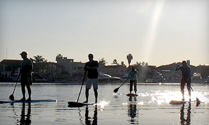 OEX Sunset Beach - Huntington Beach: $30 for Full-Day Standup-Paddleboard Rental from OEX Sunset Beach (Up to $60 Value)