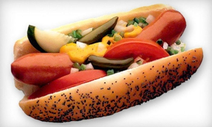 HotDogOpolis - Multiple Locations: $5 for $10 Worth of Chicago-Style Hot Dogs, Sausages, and More at HotDogOpolis
