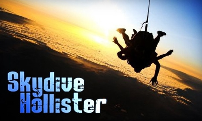 Skydive Hollister - Hollister: $99 for Tandem Skydive with Professional Jumper from Skydive Hollister ($169 value)