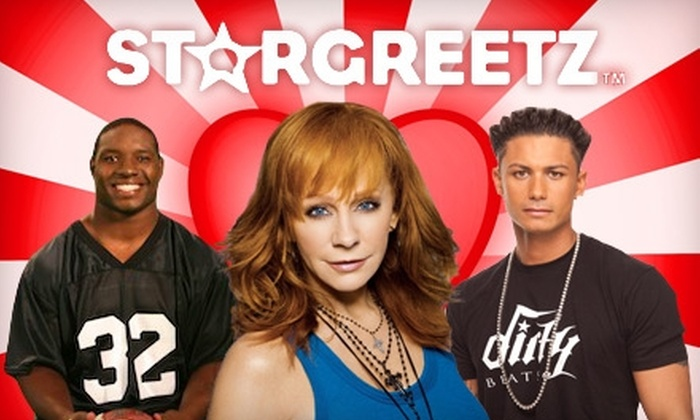 StarGreetz: $3 for 3 Personalized Celebrity Valentines and eCards from StarGreetz ($8.97 Value)