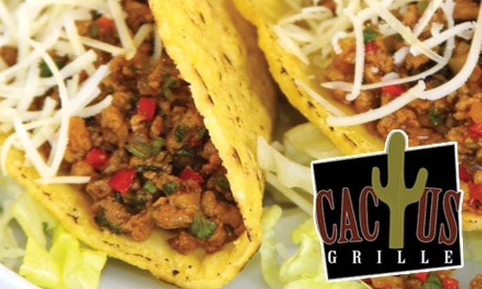 Cactus Grille - Washington Park: $25 for $50 Worth of Authentic Mexican and American Fare at Cactus Grille